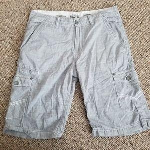 Mens Buckle Black Standard Shorts Size 34